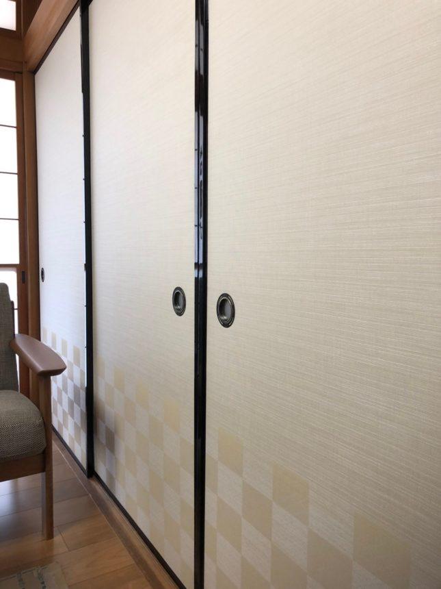 フローリングが広がるリビングから繋がりのある和室