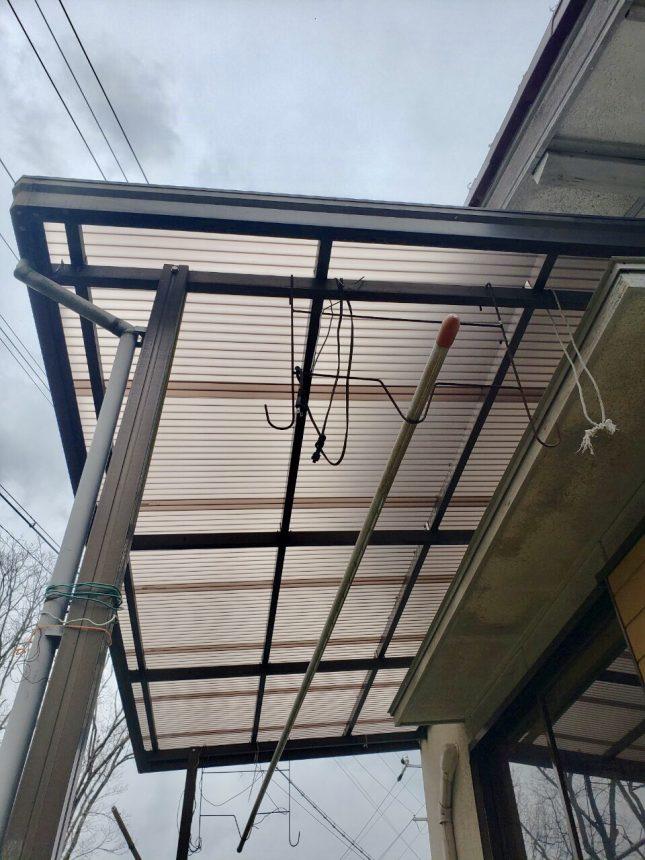 ポリカ張り替え工事 カーポート 多治見市リフォーム