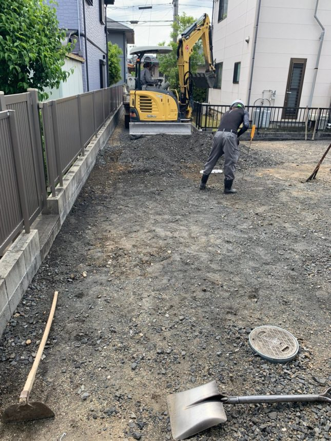 庭整地 庭先舗装工事 雑草対策