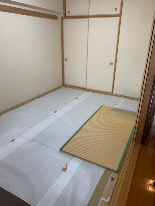 マンションのお部屋の畳取替え工事