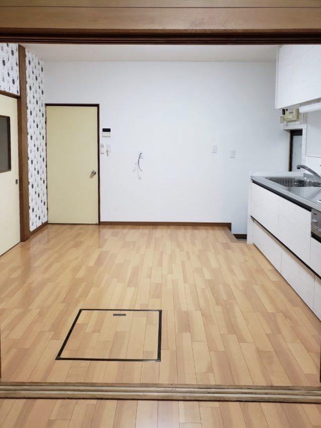 キッチンリフォーム 床張替え